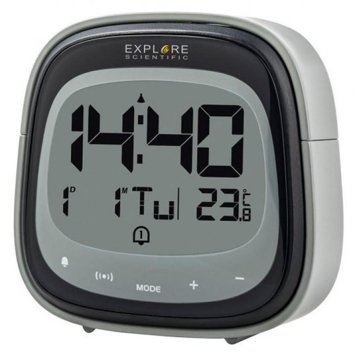 Часы цифровые Explore Scientific Dual с будильником, черные