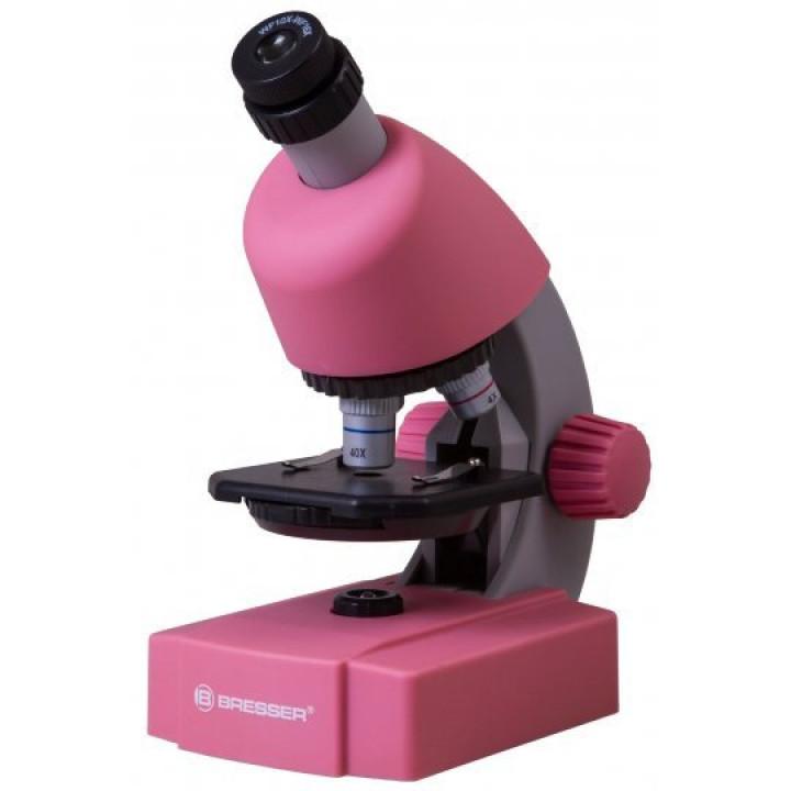 Микроскоп Bresser Junior 40x-640x, розовый