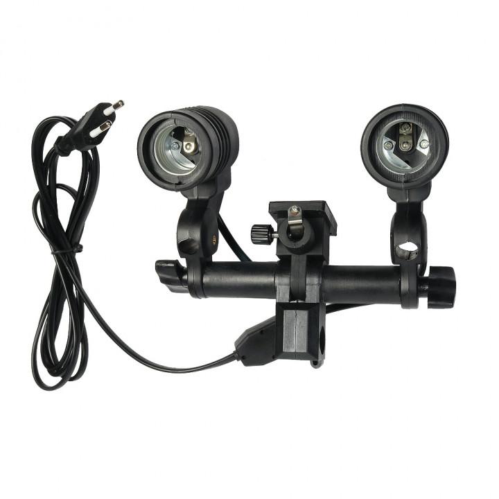 Патрон Falcon Eyes LH2-27SU для 2 ламп вспышек и зонтиков