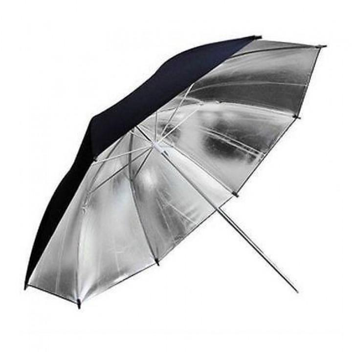 Фотозонт Godox UB-002 101cm серебро/черный