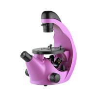 Микроскоп школьный Эврика 40х-320х инвертированный, аметист
