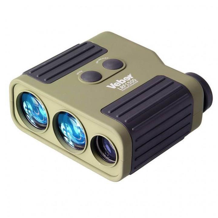 Лазерный дальномер Veber 7×25 LRF1500 green