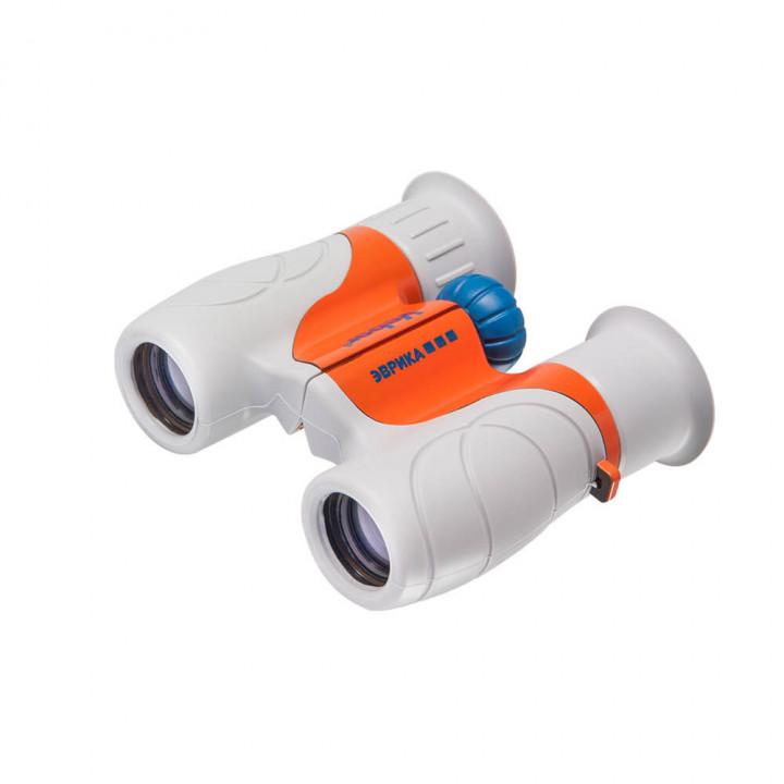 Бинокль детский Veber Эврика 6×21 серый/оранжевый