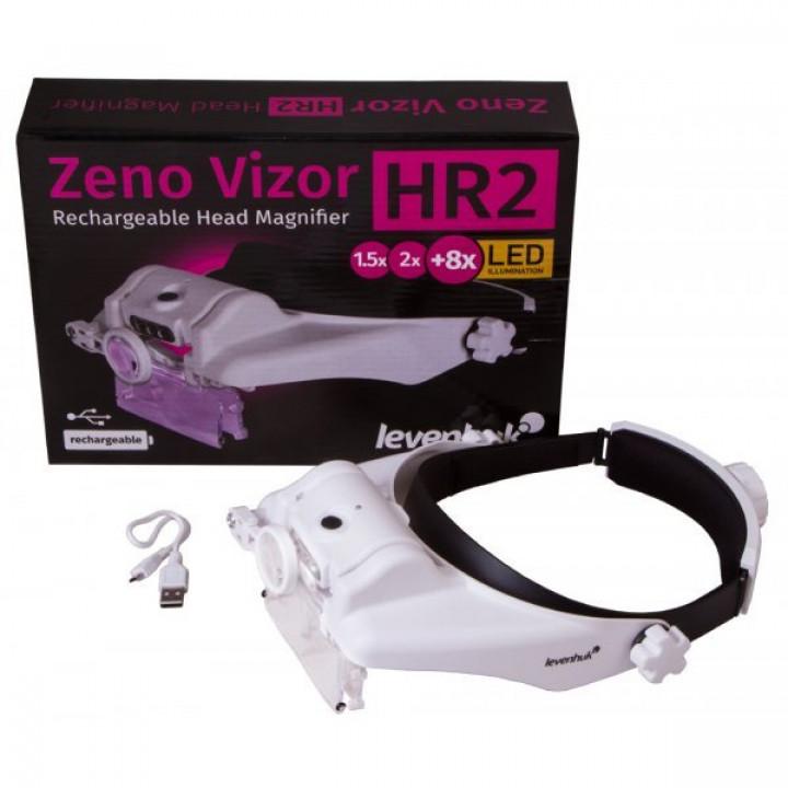 Лупа налобная с аккумулятором Levenhuk Zeno Vizor HR2 от представителя в России