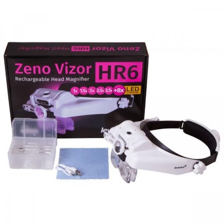 Лупа налобная с аккумулятором Levenhuk Zeno Vizor HR6 от представителя в России