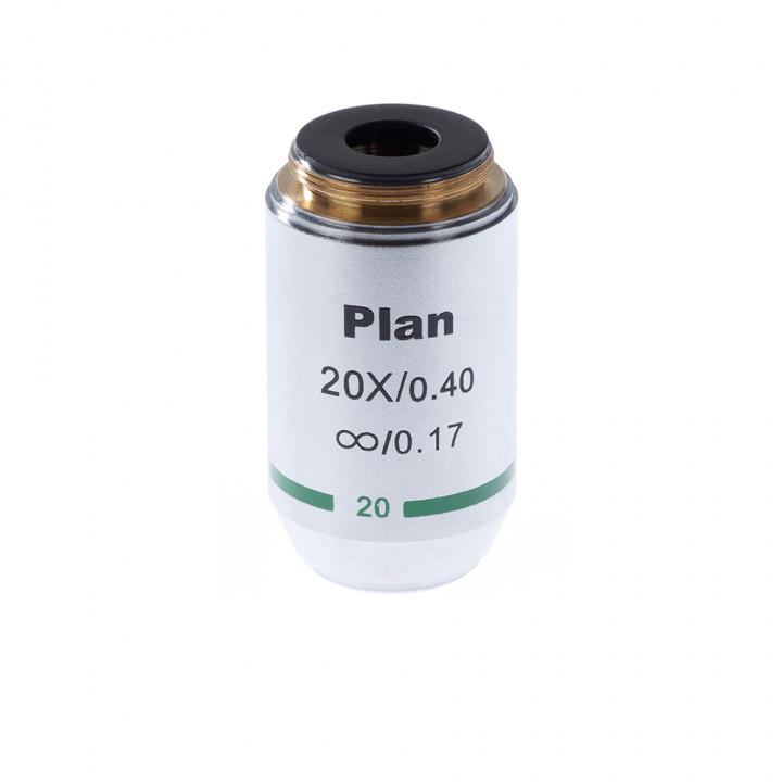 Объектив для микроскопа 20х/0,4 Plan Л беск/0,17