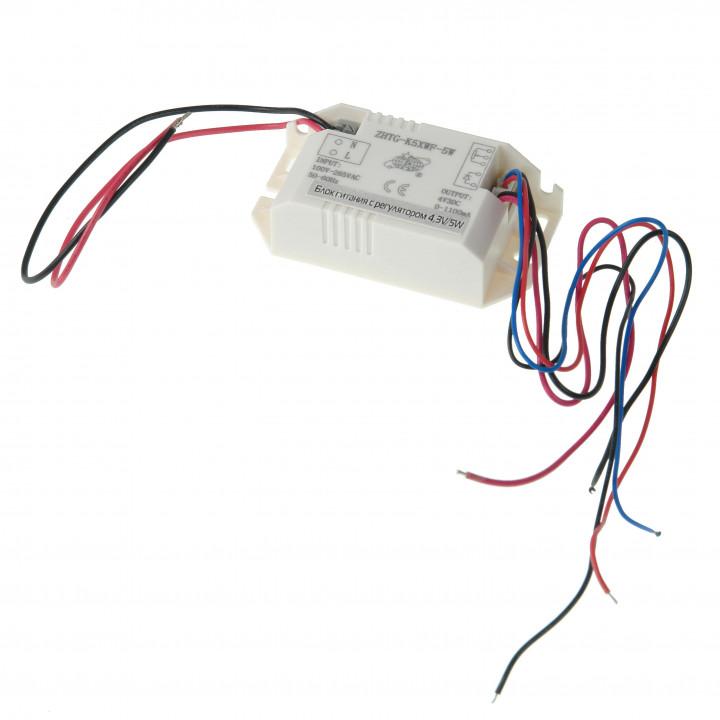 Блок питания с регулятором 4,3V/5W (к Микромед 3 LED М)